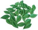 ЛИСТОЧКИ ВАФЕЛЬНЫЕ листья ТОРТ-Зеленые 30шт украшение
