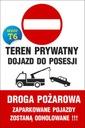 TABLICZKA - ZAKAZ PARKOWANIA 20x30 PCV 5mm Tematyka zakaz parkowania