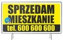 Baner reklamowy 2x1m Sprzedam DOM/Działkę Wzory Waga (z opakowaniem) 1 kg