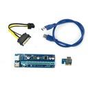 Taśma Riser USB3.0 PCI-E PCI 1x-16x 6PIN SATA 006C