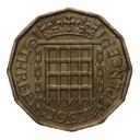 3 pensy 1967 Wielka Brytania Elżbieta II st.III