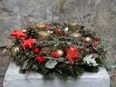 STROIK Z CZERWIENIĄ I ZŁOTEM świąteczny dekoracja