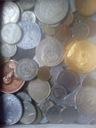 Monety znaczki banknot ze starej szuflady