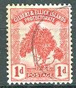 AS/Gilbert & Ellice 1911 1d Drzewo Stempl.