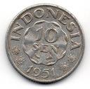 Indonezja 10 Sen 1951