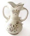 Dzbanek na kwiaty porcelanowy zdobiony złocony