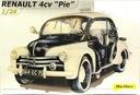 "* Heller - 1:24 * Renault 4 CV ""Pie"""