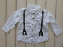 NEXT koszula chłopięca Biała z Szelkami 80