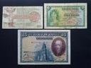 przedwojenna Hiszpania 1, 5 i 25 Peset od 1928 r.