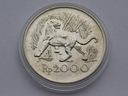 Indonezja 1974r. 2000 rupii - TYGRYS JAWAJSKI (Ag)