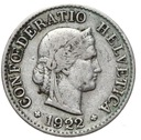 Szwajcaraia - moneta - 5 Rappen 1922