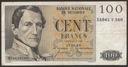 Belgia - 100 franków - 1959 rok