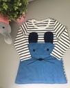 Sukienka w marynarskie paski z kotkiem