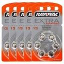 30szt x Baterie słuch. RAYOVAC 13(PR48) EXTRA B6