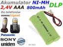 Akumulator NI-MH 2,4V AAA 800mAh SIEMENS UNIDEN RC