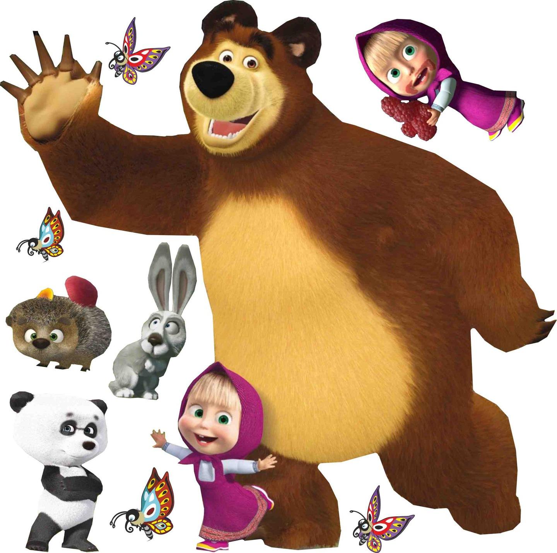 Картинки маша и медведь высокого качества на белом фоне