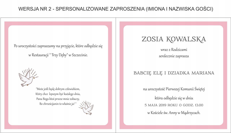 Zaproszenie Na I Komunię świętą Dla Dziewczynki 7179748500