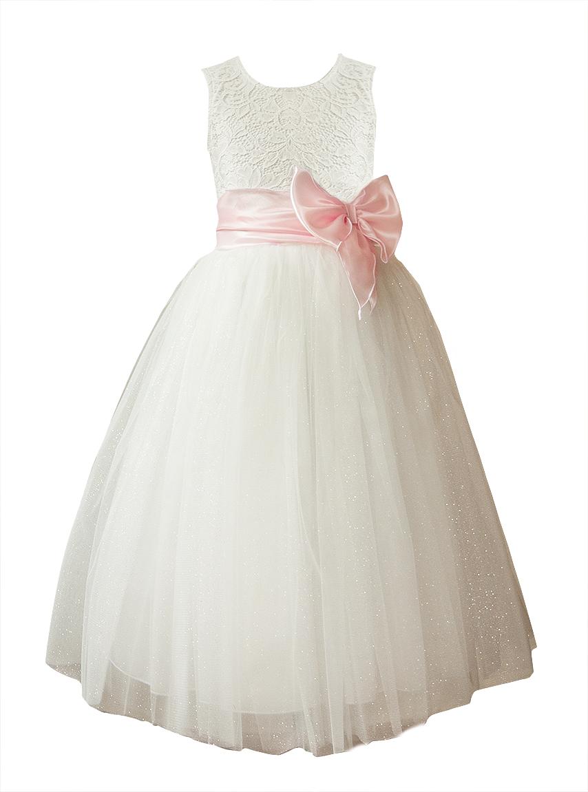 34222db39e Sukienka tiul długa komunia druhna wesele 104 PL 7652566333 - Allegro.pl
