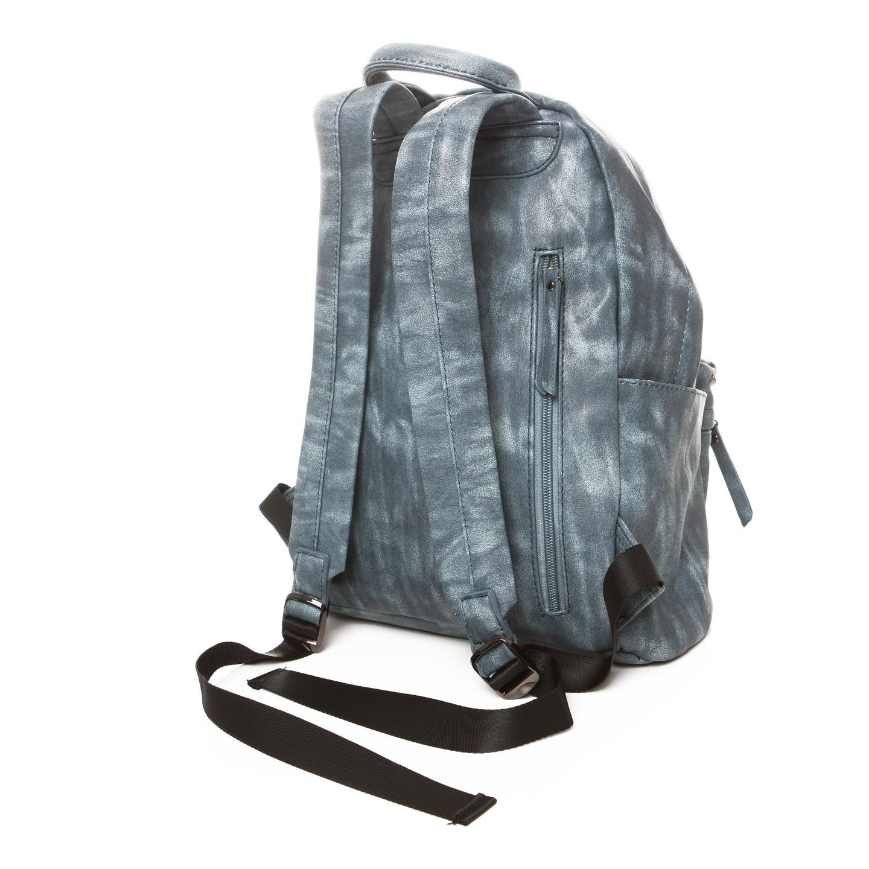 3308ace445bed Niebieski plecak ze skóry ekologicznej ĆWIEKI 20GZ. Modny damski plecak w stylu  vintage ...