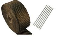 Bazaltowa taśma termoizolacyjna bandaż 20m +opaski