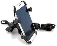 MOTOCYKLOWY UCHWYT X NA TELEFON LUSTERKO ON/OFF