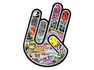 Naklejka na auto , Łapka , Shocker Hand, Sticker