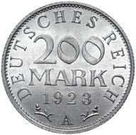 Niemcy - 200 Marek 1923 A - MENNICZA Z ROLKI