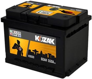 акумулятор kozak ko600 60ah/610a [sae] 60ah - фото