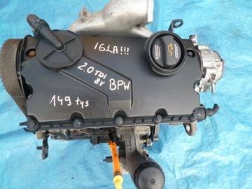 двигатель audi a4 a6 2, 0 tdi 8v bpw 140ps - фото