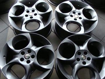 колесо диски 17 alfa romeo ti 147 156 идеальное 5x98 - фото