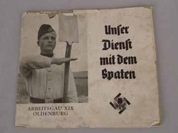 солдат Unser Dienst mitdem Spaten III Rzesza1938 доставка товаров из Польши и Allegro на русском