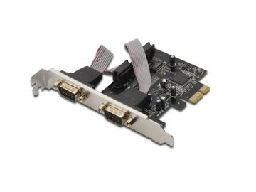 Контроллер PCI-E 2x RS232 COM DB9 low-profile-МОСКВА доставка товаров из Польши и Allegro на русском