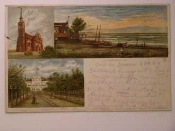 Dziwnów Dievenow hotel kościół hala plażowa 1903 доставка товаров из Польши и Allegro на русском