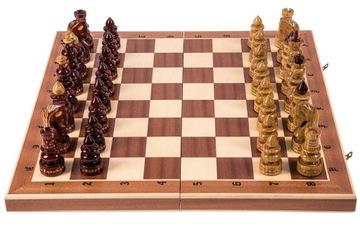 Шахматы деревянные Резные ВИЗАНТИЙСКИЕ - Красное дерево доставка товаров из Польши и Allegro на русском