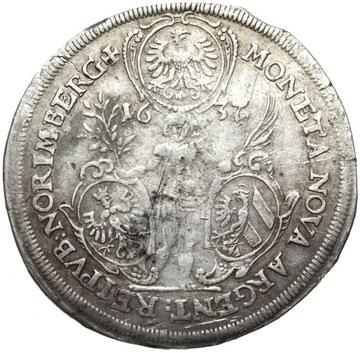 + Нюрнберг - Доллар 1637 - Фердинанд III - Серебро доставка товаров из Польши и Allegro на русском