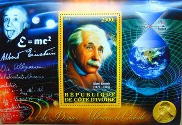 А. ЭЙНШТЕЙН, Кот-д'Ивуар блок (**) #CDI2012-06 доставка товаров из Польши и Allegro на русском