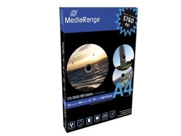 100 Наклеек Mediarange на CD/DVD/BLU-RAY glossy A4 доставка товаров из Польши и Allegro на русском