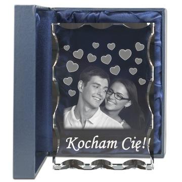 Подарок для НЕЕ для НЕГО гравировка фотографии в стекле доставка товаров из Польши и Allegro на русском