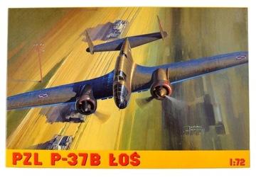 Самолет модель для склеивания PZL P-37B LOS + КЛЕЙ! доставка товаров из Польши и Allegro на русском