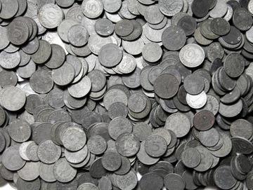 III Рейх МОНЕТЫ ЦИНКОВЫЕ 1-10 Pfennig - 100 штук доставка товаров из Польши и Allegro на русском