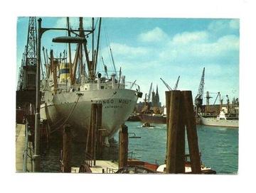 Pocztówka - Port w Hamburgu / lata 70-te / statek доставка товаров из Польши и Allegro на русском