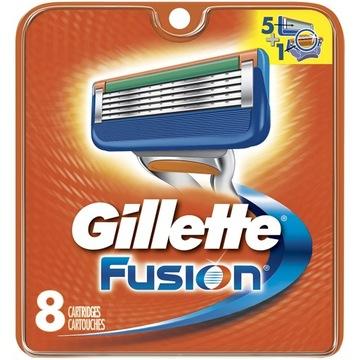 Gillette FUSION vložky na čepele 8ks 100% ORIGINÁLNE