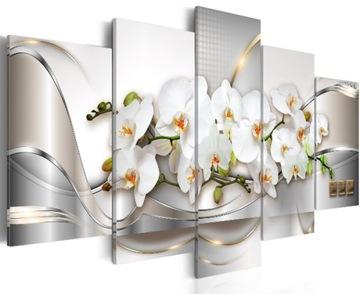 Obrázok orchideí kvety 5 cz. 200x100cm A-A-0004-B-N
