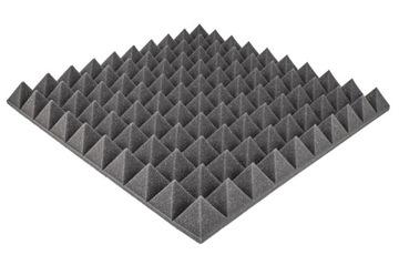 Mat akustický penový pyramídový panel 50x50x5cm