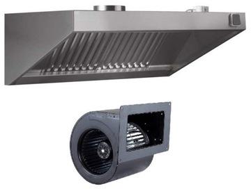 Gastronomická kapucňa 2000x900x400 Turbine Filtre