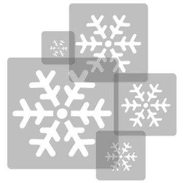 Opakovane použiteľné ŠABLÓNY 5 ks / SNOWFLAKE