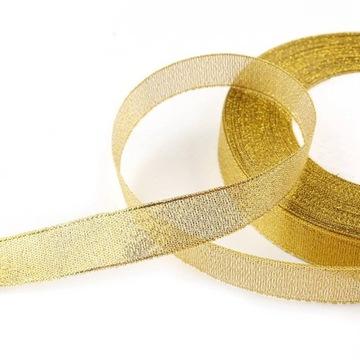 Ribbonova stuha 12mm zlato