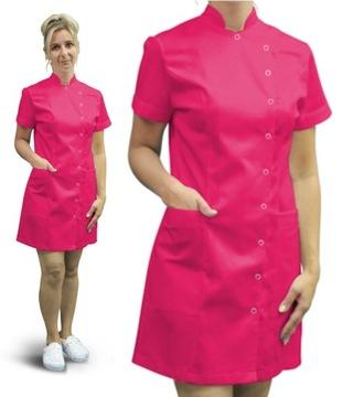 Šaty-lekársky tunika s bavlnenou zásteru. S
