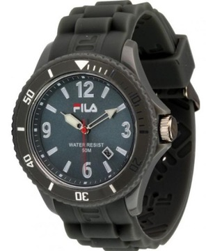 Fila mężczyzn zegarek zegarek FILA oryginalny 38 181 002 Silikonowe