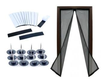 Москитная сетка СЕТКА для двери с магнитом 210 х 100 см